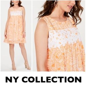 NY Collection Crochet Dress Petite Small